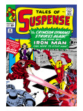Marvel Comics Retro: The Invincible Iron Man Comic Book Cover 52, Facing the Crimson Dynamo Prints