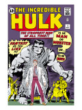 Marvel Comics Retro: The Incredible Hulk Comic Book Cover 1, with Bruce Banner Poster