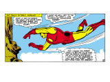 Marvel Comics Retro: The Invincible Iron Man Comic Panel, Flying Posters