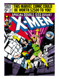 Marvel Comics Retro: The X-Men Comic Book Cover 137, Phoenix, Colossus Print