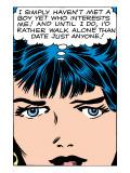 Marvel Comics Retro: Love Comic Panel, Proud Single Woman Kunstdrucke