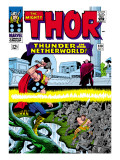 Marvel Comics Retro: The Mighty Thor Comic Book Cover No.130, Thunder in the Netherworld, Hercules Prints