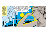 Marvel Comics Retro: Love Comic Panel, Alone at Window under Moonlight Kunstdrucke