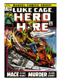 Marvel Comics Retro: Luke Cage, Hero for Hire Comic Book Cover 3, Mace in Helicopter Posters