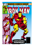 Marvel Comics Retro: The Invincible Iron Man Comic Book Cover 126, Suiting Up for Battle Art
