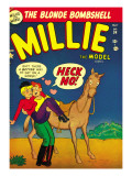 Marvel Comics Retro: Millie the Model Comic Book Cover 34, Getting on a Horse Posters