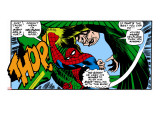 Marvel Comics Retro: The Amazing Spider-Man Comic Panel, the Vulture, Thop! Stretched Canvas Print