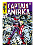 Marvel Comics Retro: Captain America Comic Book Cover 107, with Red Skull and Bucky Prints