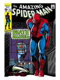 Marvel Comics Retro: The Amazing Spider-Man Comic Book Cover No.75, Death Without Warning! Posters