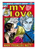 Marvel Comics Retro: My Love Comic Book Cover No.20, Kissing, When Strangers meet! Prints