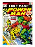 Marvel Comics Retro: Luke Cage, Power Man Comic Book Cover No.29, Fighting Mr. Fish Prints