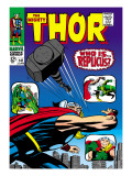 Marvel Comics Retro: The Mighty Thor Comic Book Cover 141, Who is Replicus Art