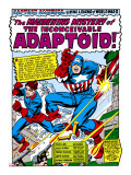 Marvel Comics Retro: Captain America Comic Panel, The Inconceivable Adaptoid! with Bucky Stretched Canvas Print