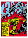 Marvel Comics Retro: The Incredible Hulk Comic Panel, Rage and Crash Posters