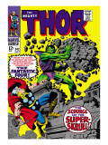 Marvel Comics Retro: The Mighty Thor Comic Book Cover 142, Scourge of the Super Skrull! Prints