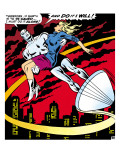 Marvel Comics Retro: Silver Surfer Comic Panel, Saving the girl Poster