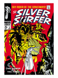 Marvel Comics Retro: Silver Surfer Comic Book Cover 3, Fighting Mephisto Posters