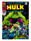 Marvel Comics Retro: The Incredible Hulk Comic Book Cover 101, with the Sub-Mariner Prints