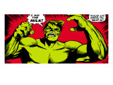 Marvel Comics Retro: The Incredible Hulk Comic Panel Poster