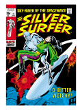 Marvel Comics Retro: Silver Surfer Comic Book Cover 11, Bitter Victory Art
