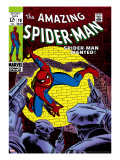Marvel Comics Retro: The Amazing Spider-Man Comic Book Cover #70, Wanted! Reproducción en lienzo de la lámina