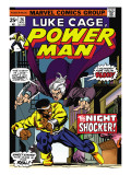 Marvel Comics Retro: Luke Cage, Hero for Hire Comic Book Cover No.26, the Night Shocker! Posters