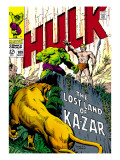 Marvel Comics Retro: The Incredible Hulk Comic Book Cover No.109, the Lost Land of Ka-Zar Prints