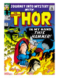 Marvel Comics Retro: The Mighty Thor Comic Book Cover No.120, Journey into Mystery; This Hammer Prints