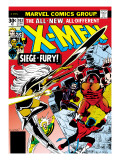 Marvel Comics Retro: The X-Men Comic Book Cover 103 with Storm, Nightcrawler, Banshee, Juggernaut Prints