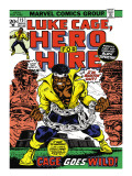Marvel Comics Retro: Luke Cage, Hero for Hire Comic Book Cover No.15, in Chains Art