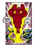 Marvel Comics Retro: Fantastic Four Comic Panel, Thing, Mr. Fantastic, Human Torch Print