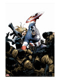 Captain America No.3 Cover: Captain America, Carter and Sharon Stretched Canvas Print by Epting Steve