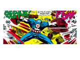 Marvel Comics Retro: Captain America Comic Panel, Fighting, Phase 1, So Far So Good! Affiches