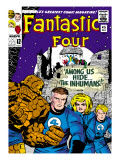 Marvel Comics Retro: Fantastic Four Family Comic Book Cover No.45, Among Us Hide the Inhumans! Prints