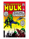 Marvel Comics Retro: The Incredible Hulk Comic Book Cover 3 Prints