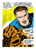Marvel Comics Retro: Fantastic Four Comic Panel, Thing, Mr. Fantastic Poster