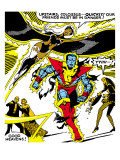 Marvel Comics Retro: X-Men Comic Panel, Colossus, Storm, Charging and Flying Posters