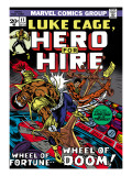 Marvel Comics Retro: Luke Cage, Hero for Hire Comic Book Cover 11, Wheel of Fortune and Doom Prints