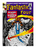 Marvel Comics Retro: Fantastic Four Family Comic Book Cover 47, Beware, the Hidden Land! Print