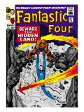 Marvel Comics Retro: Fantastic Four Family Comic Book Cover No.47, Beware, the Hidden Land! Print