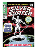 Marvel Comics Retro: Silver Surfer Comic Book Cover No.1, Origin Print