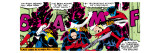 Marvel Comics Retro: X-Men Comic Panel, Nightcrawler Premium Giclee Print