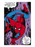 Marvel Comics Retro: The Amazing Spider-Man Comic Panel, Crawling Prints
