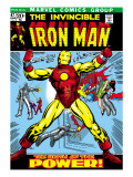 Marvel Comics Retro: The Invincible Iron Man Comic Book Cover #47, Breaking Through Chains Lminas