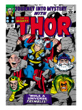 Marvel Comics Retro: The Mighty Thor Comic Book Cover 123, Mystery with Absorbing Man, Odin, Loki Prints