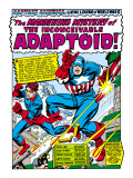 Marvel Comics Retro: Captain America Comic Panel, The Inconceivable Adaptoid! with Bucky Print