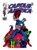 Marvel Comics Retro: Captain America Comic Book Cover 111, with Hydra and Bucky Prints