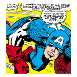 Marvel Comics Retro: Captain America Comic Panel, Monologue, I'm in Luck! Art