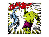 Marvel Comics Retro: The Incredible Hulk Comic Panel, Fighting, Thwak! Stretched Canvas Print