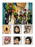 New X-Men: Academy X Yearbook Group: Pixie, Match, Trance, Wolf Cub, D.J., Preview and Paragons Stretched Canvas Print by Jeanty Georges